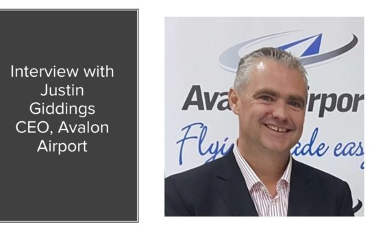 Avalon Airport CEO Justin Giddings
