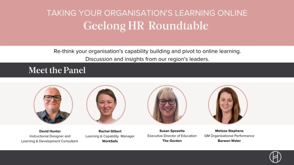 Taking your organisation's learning online panel